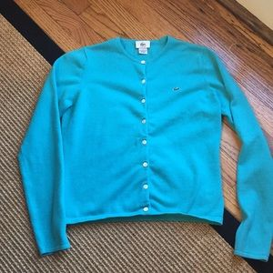 Lacoste Button Down Sweater